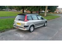 2004 Peugeot 206 Sw Estate 1.4 Manual, Petrol, ONLY 63,213 Miles, Long Mot, Immaculate