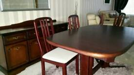 Extendable dining table and Unit