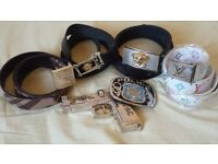 Mens Designer Versace, Burberry, Louis Vuitton. Belt Buckle Joblot/Bundle