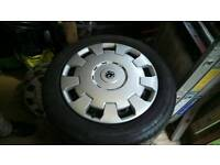 Vauxhall combo, corsa, astra Steel wheels and good tyres with trims