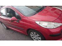 Peugeot 207 1.4 petrol, 2007 5 doorsfor sale or swap