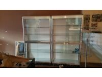 Multiple Used Glass Retail Cabinets. Buy Singles or the Full Lot.