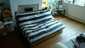 Japanese Futon: sofa and double bed