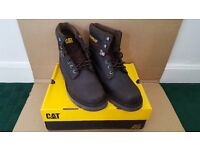 "CAT BOOTS GLENDALE 6"" CHOCOLATE COLOUR SIZE 11 UK 12 USA 45 EUR (BRAND NEW)"