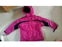 Girls ski/winter coat & trousers (7-8yrs)