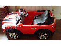 Electric mini cooper Perfect for Christmas present