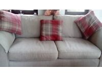 3 seater sofa, immaculate no rips or marks, from pet free and smoke free home