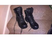 Black leather Magnum boots size 8