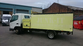 Mitsubushi canter with large box tipper and tool box