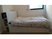 Ikea BRIMNES Double Bed w/ Mattress