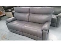ScS Ralph 3 Seater Power Recliner Sofa with USB Ports in Light Grey **Can Deliver**