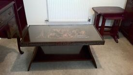 Oriental Carved Coffee Table - Vintage (1950s)