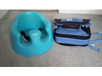 Bumbo seat and Booster high chair seat