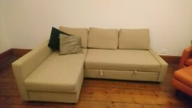 IKEA Friheten Sofa Bed Beige with storage RRP £529