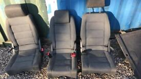 Touran caddy back seat conversion with carpet storage seatbelts