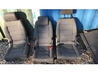 Touran caddy back seat conversion with carpet storage seatbelts