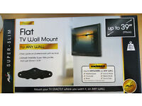 NEW - SLIM TV WALL MOUNT - BOXED