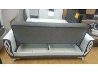 🤘🏻💓 GREAT BUYING SALETURKISH DESIGN FABRIC STORAGE SOFA BEDS SETTEE BLACK BROWN GREY SOFABED