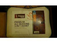 Quilt new king size Benson's for beds duvet 3in1