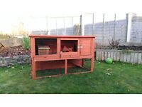 Guinea pig / rabbit hutch with cover and run