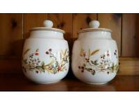 M&S VINTAGE PATTERN HARVEST STORAGE CONTAINERS