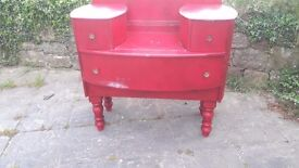 Shabby Chic Red Dresser