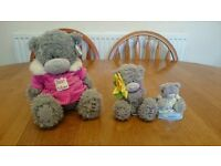 ME TO YOU BEARS TATTY TEDDY BEARS SOFT TOY COLLECTIBLE ITEMS SET OF 3