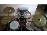 Mapex V-Series 5 Piece Drum Kit w/Sabian Solar Cymbals and Stands (no stool) Collection Only