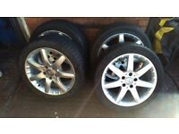 "17"" MERCEDES W203 C CLASS ALLOY WHEELS WITH TYRES 225/45R17 A2034011802"