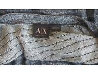 Armani Exchange Grey Cardigan Mens Designer AX