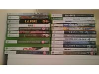 XBOX 360 20GB 3 CONTROLLERS 25 GAMES PERFECT WORKING CONDITON JUST NEEDS FRONT CASE