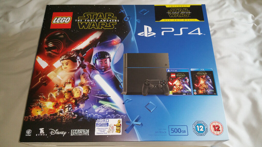Brand new and unopened PS4 Lego Star Wars The Force Awakens Bundle with Game & Blu-Ray Film