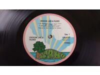 EMERSON LAKE & PALMER - SELF- TITLED - ISLAND RECORDS- PINK RIM