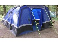 Hi gear voyager 6 tent with carpet porch and footprint
