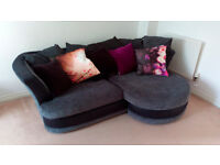 Corner sofa lounge suite left or right with cushions