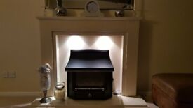 Beautiful all marble fire surround includes Valor Black Beauty gas fire
