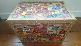 Small chest - trunk with travel theme