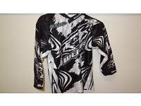 wulfsport race shirt motocross motox quad youth junior kids black white age 3-4