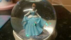 (SOLD)Pretty cinderella snow globe.