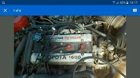 Toyota 1600 16 Valve Engine and Gearbox