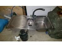"""FRANKE"" stainless steel kitchen sink"