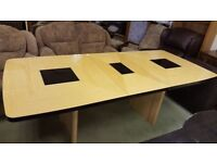 Large High Gloss Extendable Dining Table
