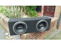 2 x 12inch audiobhan subs with 2000watt amp