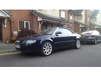 Audi A4 cabriolet convertible S Line 2.4 V6, 2002 Low milage !