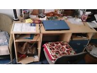 Office desk, one side with drawers - FREE!