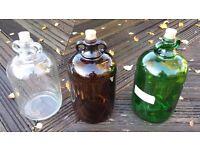 demijohns gallon & 1/2 gallon