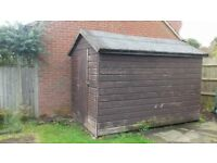 Shed 10x6 tongue & Groove Wooden Garden Shed Single Door Apex Roof Felted