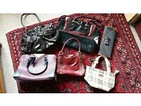 6 Ladies handbags