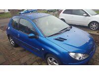 peugeot 206 1.4 petrol sport 2006 (1 year MOT)