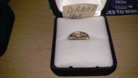 18 ct gold diamond ring